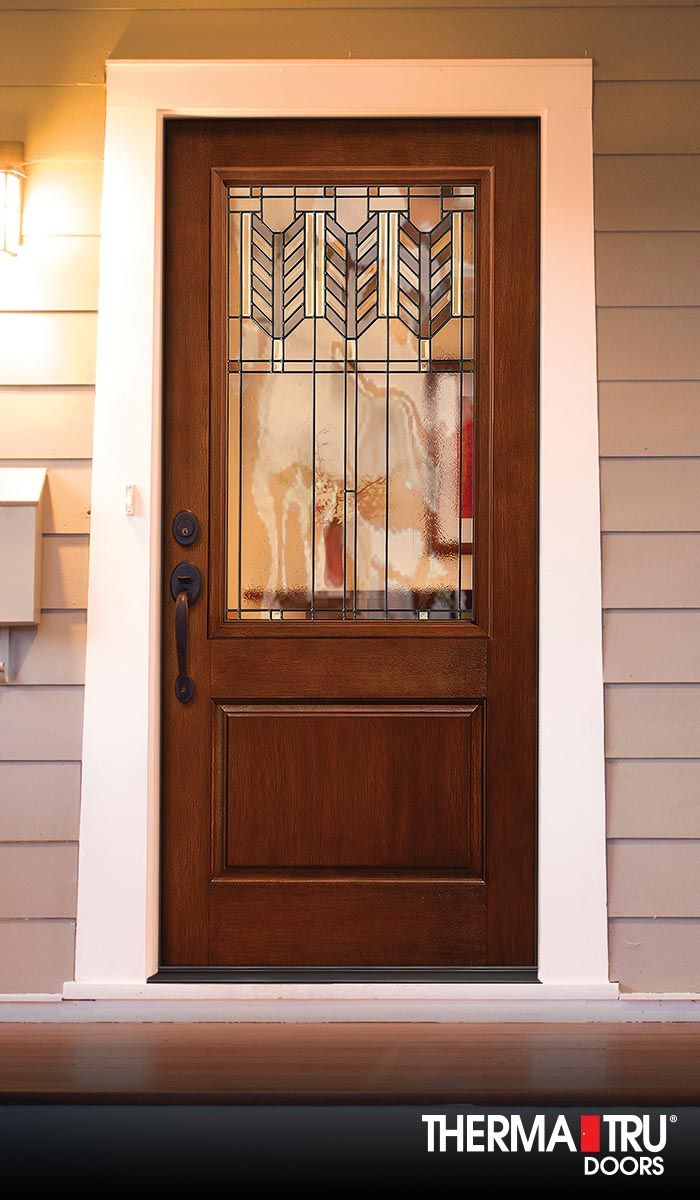 Therma-Tru Classic-Craft Rustic Collection fiberglass door ...