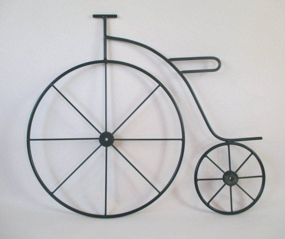 Metal Bicycle High Wheel Big Wheel Penny-farthing by HobbitHouse
