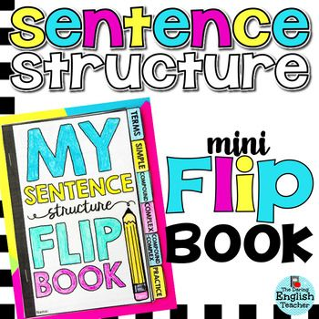 Sentence Structure Flip Book: Help your students learn, remember, and understand the four different sentence structures: simple, compound, complex, and compound-complex.This mini flip book includes 6 parts of speech tabs: terms, simple, compound, complex, compound-complex, and a practice page.
