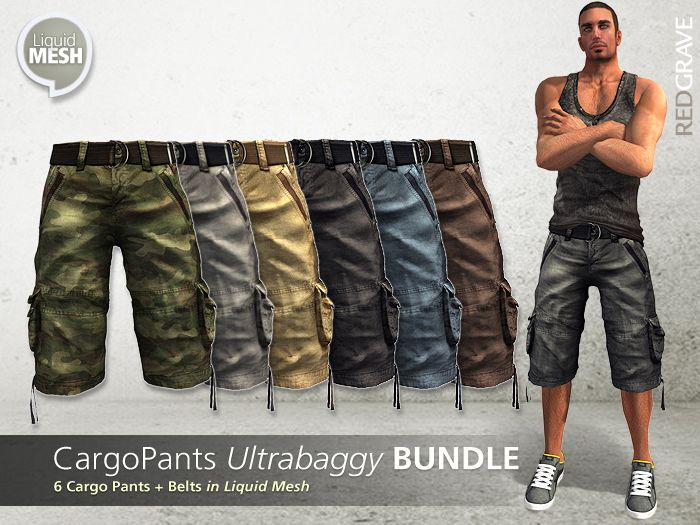 Mesh - CargoPants UltraBaggy BUNDLE  - REDGRAVE