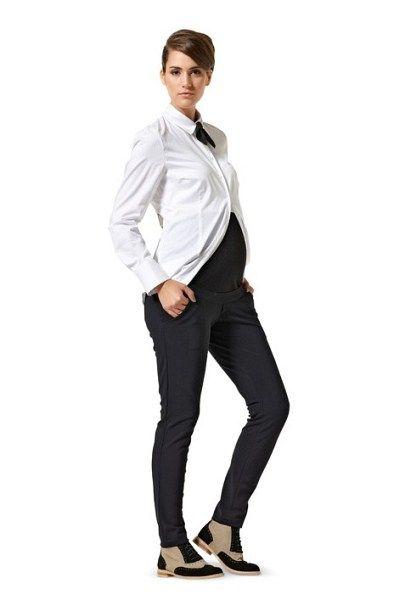 graviditetstøj - bukser med rib