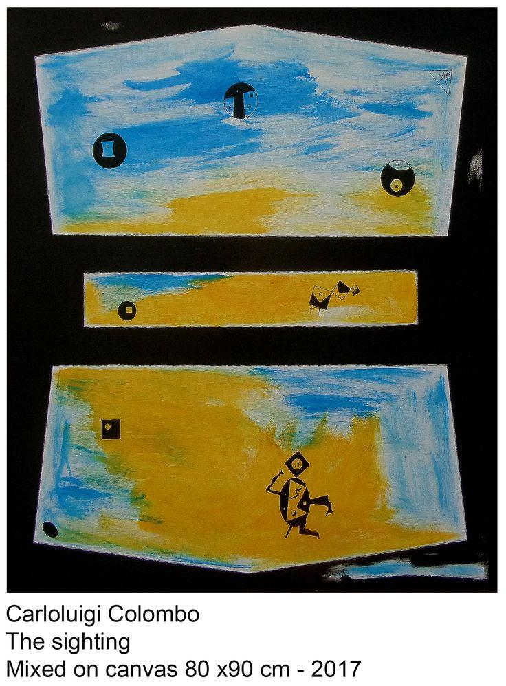 The sighting, art, painting, alien, esorinism, eso, Riolo Terme, Italy, ufo, space shuttle, Faenza, italia, arte, acrylic
