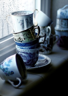 Rainy Days and Teacups, not Delft, but...