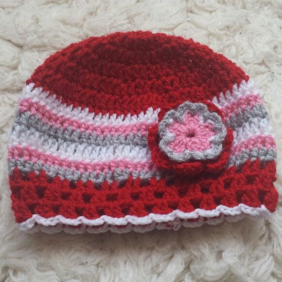 One of my latest work: crochet baby beanie. Coming soon to my shop. Available in baby and toddler sizes.