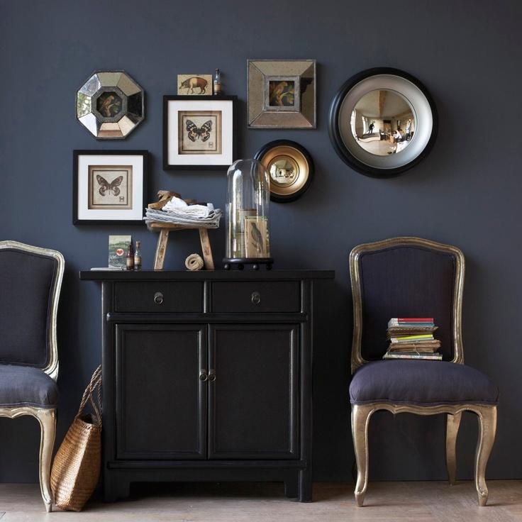 Quadro com espelhos envelhecidos Cantabile