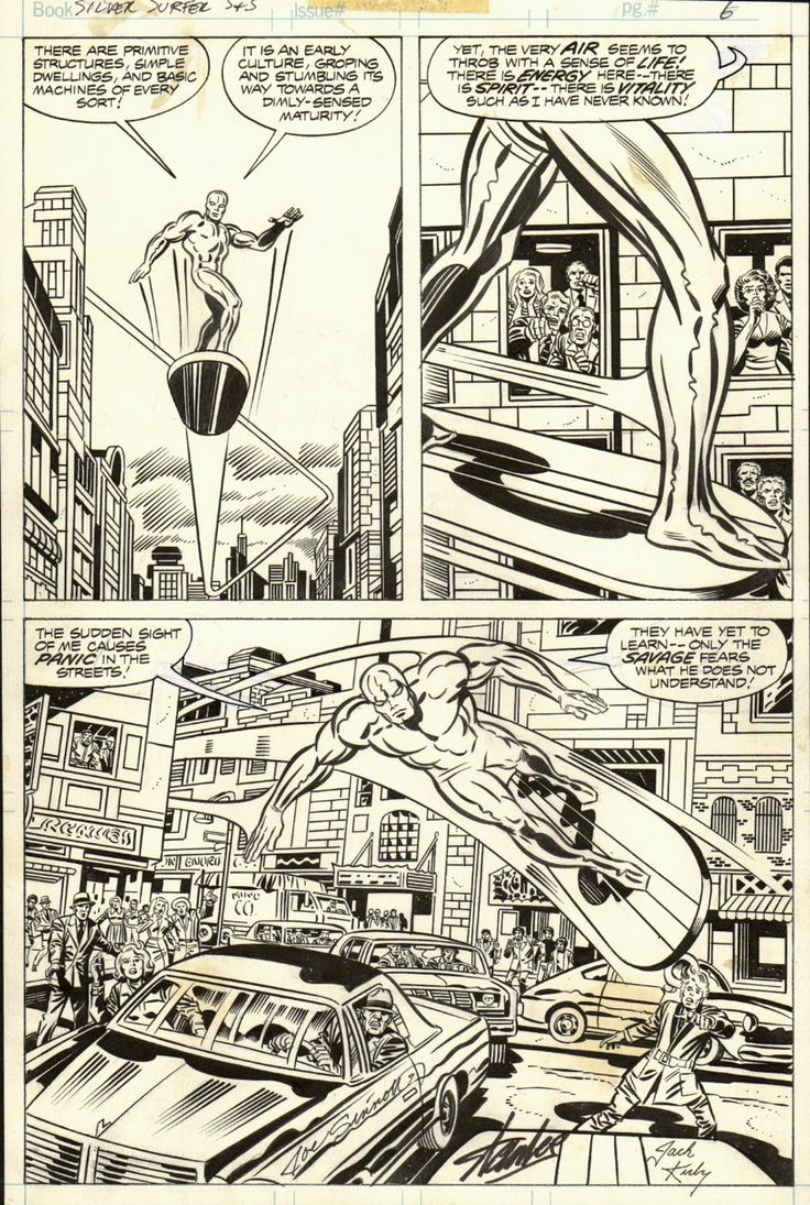 SILVER SURFER GRAPHIC NOVEL PAGE 6 ( 1978, Jack Kirby ) Comic Art