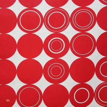 Latest Designer Fabric 'Origo in Red' by Spira (SWE). Buy online or visti our fabric retail store in Christchurch.