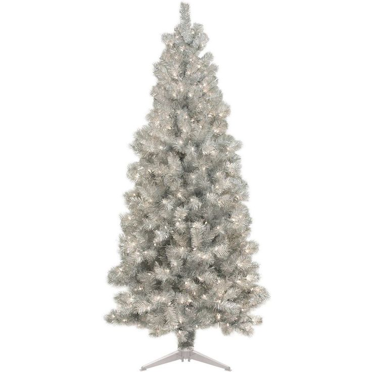 6 Ft Christmas Tree 250 Clear Lights Tall Prelit Artificial Holiday Decor White #6FtChristmas