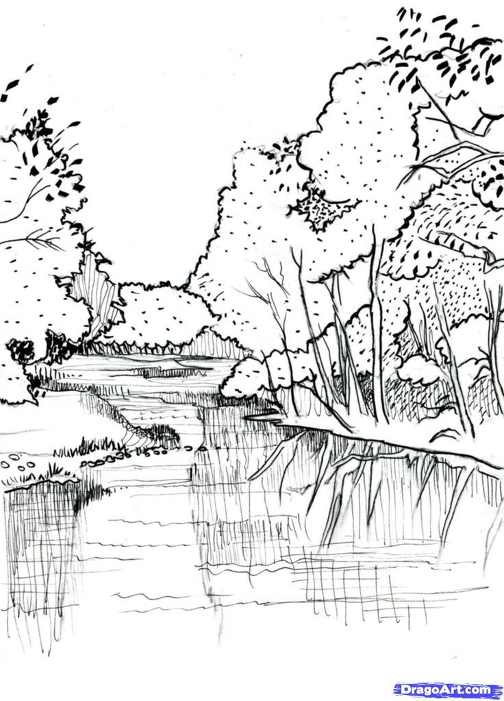 how to draw a realistic river step 7