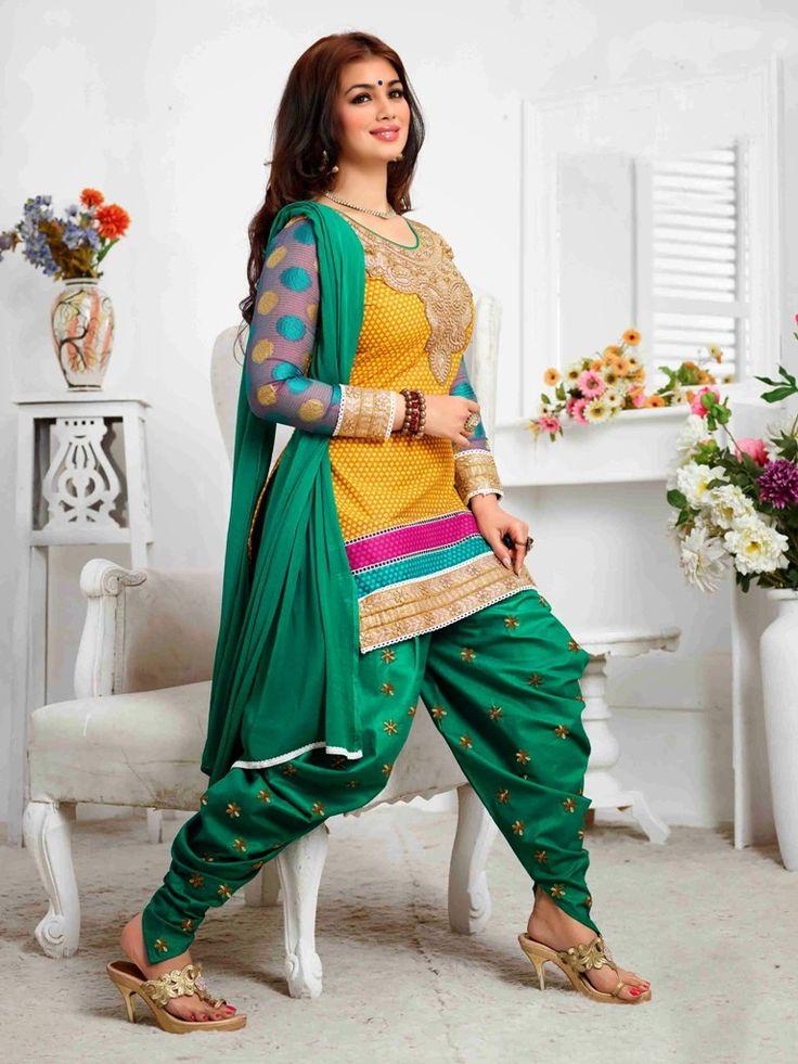 Decorative Multi Ayesha Takia Patiala Salwar Suit Buy Online Krishna Emporia