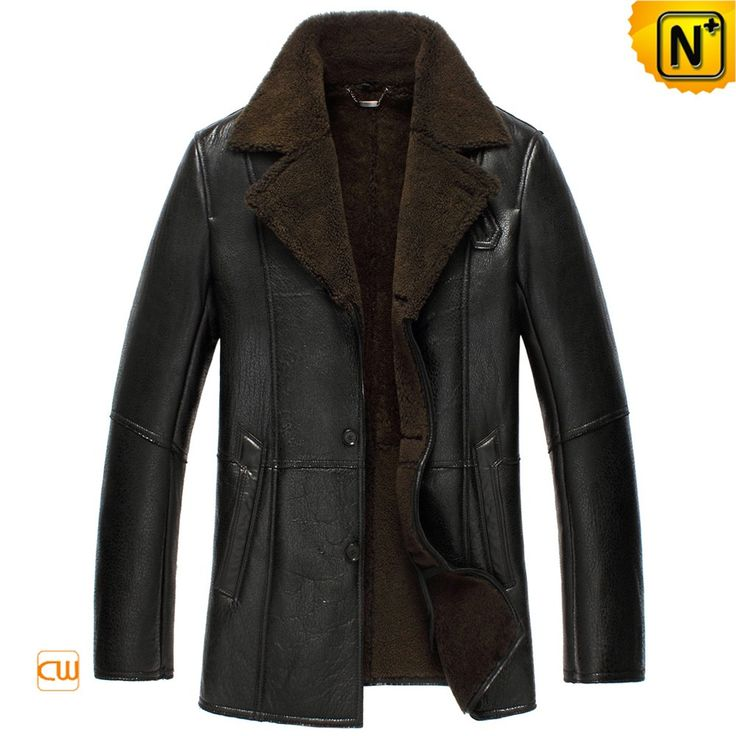 www.cwmalls.com PayPal Available (Price: $1455.89) Email:sales@cwmalls.com; Black Sheepskin Lined Leather Coat for Men CW852531  Best quality black sheepskin lined leather jacket coat for men with genuine Napa sheep leather exterior and real shearling lining, good looking sheepskin coat sales online!