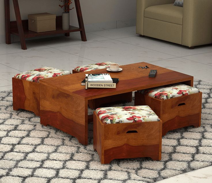 Add Beauty And Extra Seating To Your Home With Lovely Designed Coffee Table Having