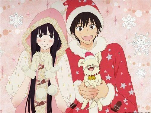 kimi ni todoke, anime, and christmas