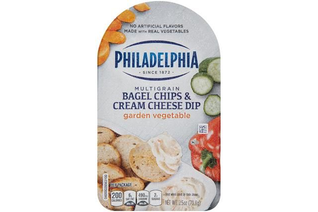 Philadelphia Garden Vegetable Multigrain Bagel Chips & Cream Cheese Dip