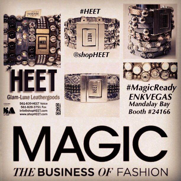@shopHEET is #MagicReady! Come find the glam-luxe, #rockerchic designer brand at #ENKVegas | #MandalayBay Booth #24166 August 18-20th at @wwdmagic. For appointments email Dana@shopHEET.com. #HEET has been featured on #GoodMorningAmerica #TheBachelorette #GuysGroceryGames #FoodNetwork #EricAndJessie #DancingwiththeStars & more! #Swarovski #Leather #Metal #Fashion #Magic #ENKshows #enk #enkvegas #magic #magiclv #magicmarket #wwdmagic #HEETnation #accessories #jewelry