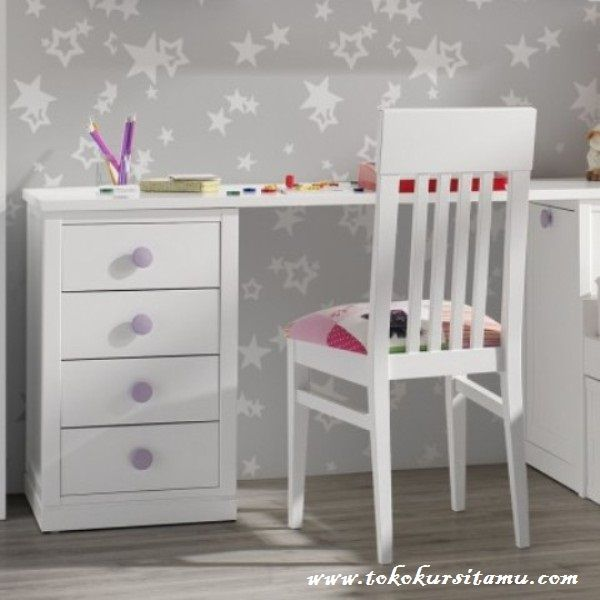 Meja Belajar Jari-Jari Putih MJB-008, meja belajar minimalis, meja belajar anak perempuan, meja belajar anak anak, meja belajar kayu jati, meja belajar anak, meja belajar anak laki, meja belajar anak murah,