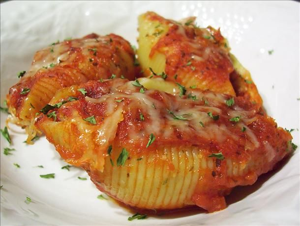 I Hate Ricotta Meat & 2 Cheese Stuffed Shells.  My guys love, love, love this.