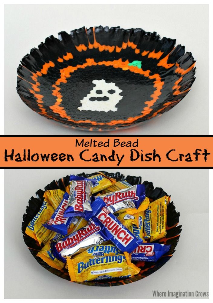 Melted Bead Candy Bowl Halloween Craft