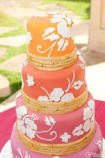 You could make a one or two tiered version but ombre the frosting so you could get the same affect