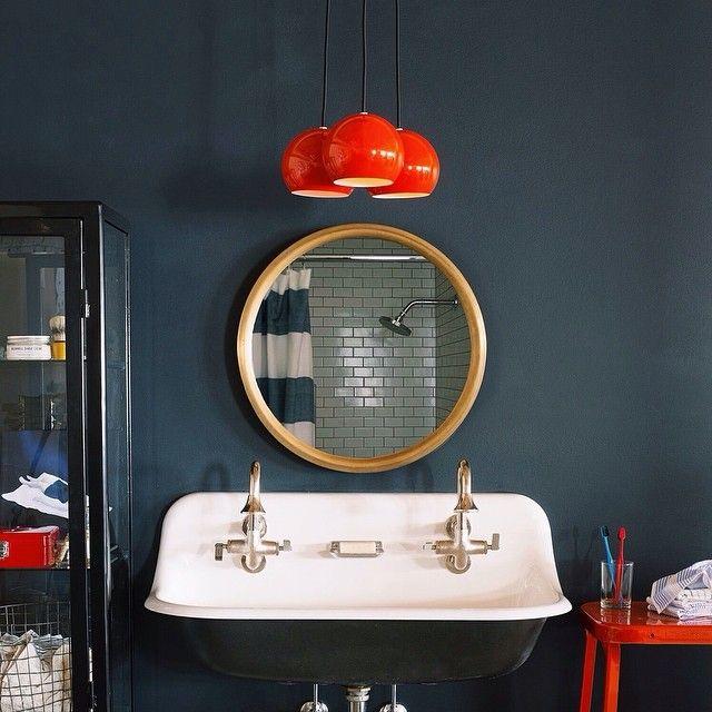 Persimmon Isaac Chandelier + Higgins Mirror = things we love