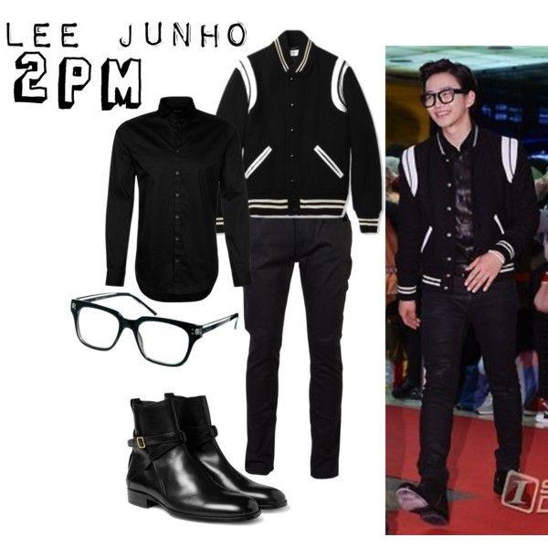 """Men in Black with Junho 2PM"" by pritasafitri on Polyvore"