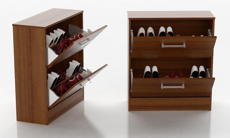 Óptimos para organizar el calzado con estilo y delicadeza. Con tamaño para guardar aproximadamente 10 (diez) pares de zapatos. Con 2 (dos) puertas permiten mantener los zapatos ocultos a la vista.