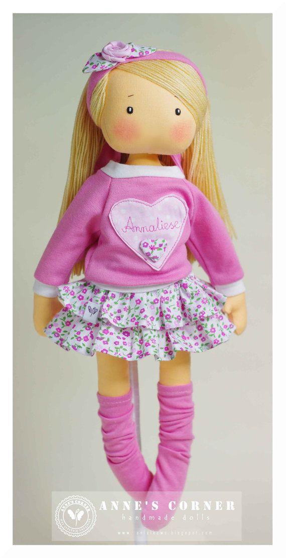 Susie de la muñeca de trapo con muñeca de trapo ropa extraíble