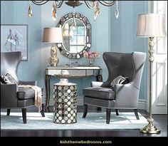 old hollywood style decor | Hollywood glam living rooms - old Hollywood style decorating ideas ...