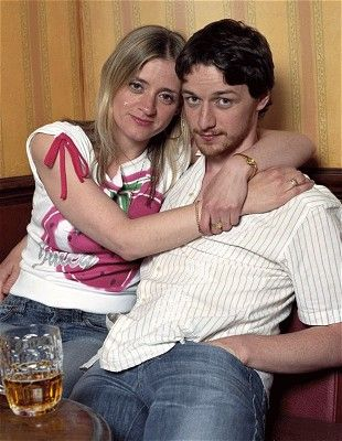 """Shameless UK - """"Anne-Marie Duff and James McAvoy's careers have skyrocketed (McAvoy's in particular) since they appeared in Shameless. They also ended up getting married. Fiona is Frank Gallagher's eldest child, Steve was her car-stealing boyfriend."""""""