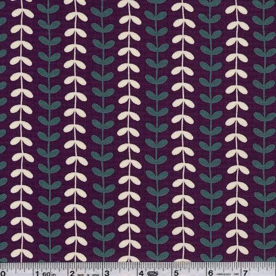 Notus - Vine Stripe - Plum & Turquoise