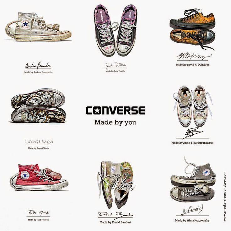 "Converse ""Made By You"" Chuck Taylor All Star sneakers by Andrea Penaranda, Julie…"
