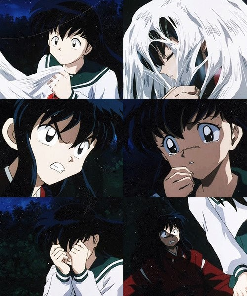 Kagome's First Time Seeing InuYasha In His Human Form