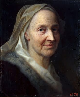 Balthasar Denner (1685 - 1749) Portrait of an Old woman c. 1720