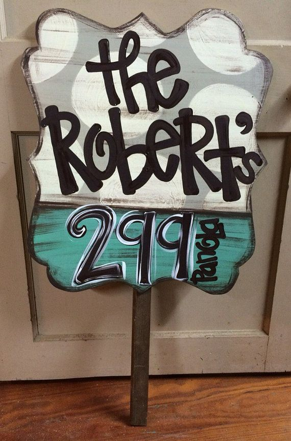 Personalized Yard Address Sign Marker By Justdotsco On