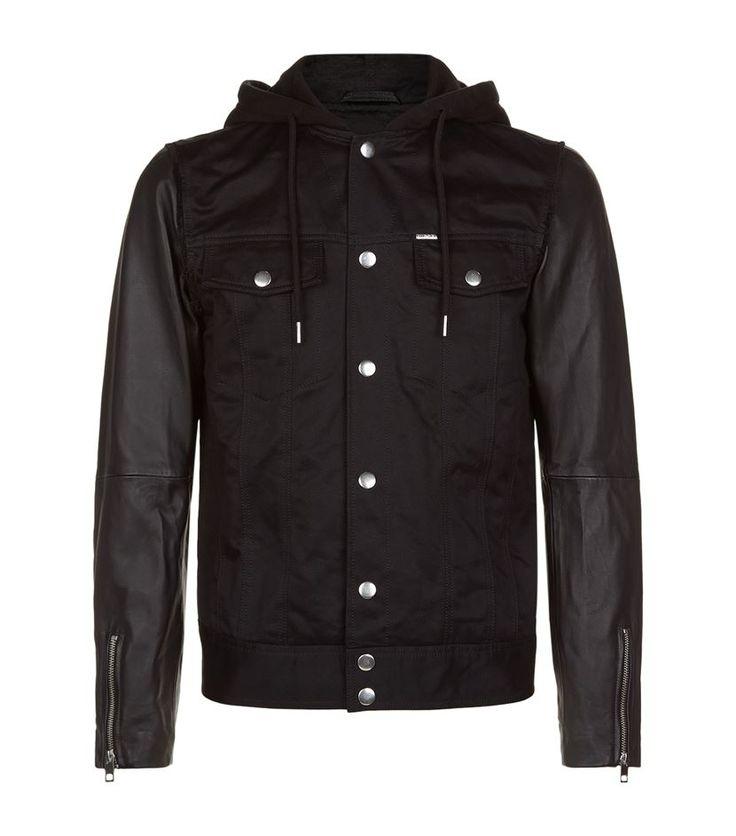 #Diesel Contrast Hooded #Jacket, Black. £ 375.00 #mensfashion #malefashion #menswear http://www.harrods.com/product/contrast-hooded-jacket/diesel/000000000005241905?cat1=new-men&cat2=new-men-coats-and-jackets#