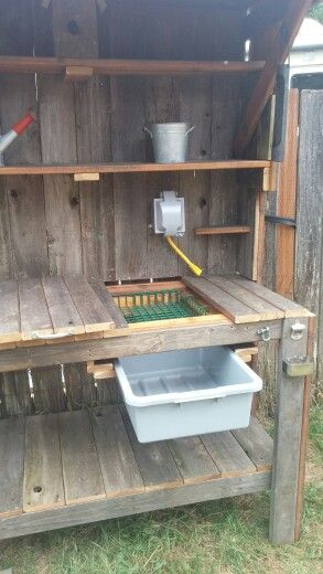 Potting bench More - Gardening Rustic https://uk.pinterest.com/furniturerattan/garden-barbecue-and-heaters/pins/