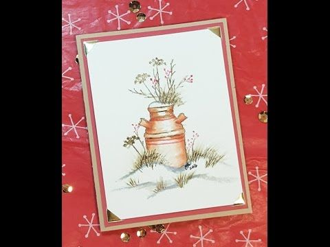 12 Days of Christmas Cards - Day 9: Art Impressions Winter Watercolor - YouTube