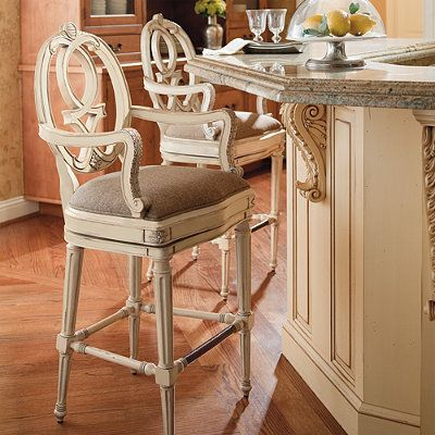 Cornelia Bar Stool, Frontgate. good for French Country