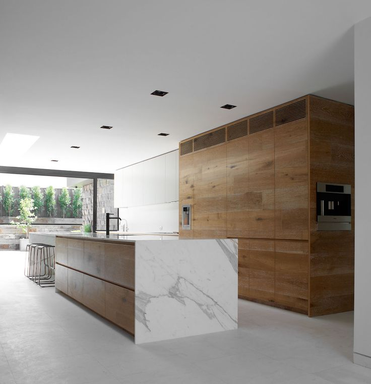 Robson Rak Architects // Dale House // timber; marble; integrated grille
