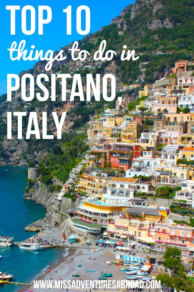 Amazing Amalfi: Top 10 Things To Do In Positano   Miss Adventures Abroad · Positano is one of the most beautiful beaches on Italy's Amalfi Coast. The colorful hillside buildings, black sand, and the brilliant blue of the Mediterranean make it a must when visiting Italy. Discover the top 10 things you wont want to miss in Positano!