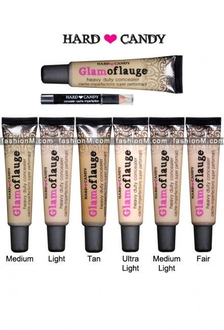 Hard Candy Glamoflauge Heavy Duty Concealer (undereye concealer use the smallest dot and shear out with a concealer brush)