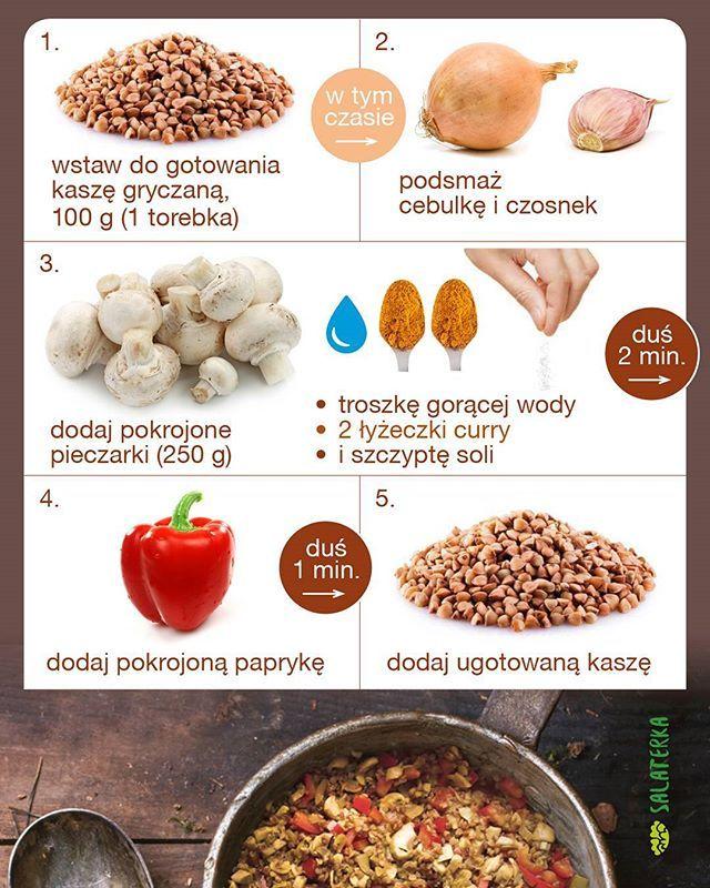 Kasza gryczana z pieczarkami i papryką w curry :) #przepis #kaszagryczana #papryka #pieczarki #zdrowo  #zdrowejedzenie #dieta
