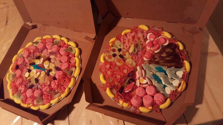 Snoep pizza's
