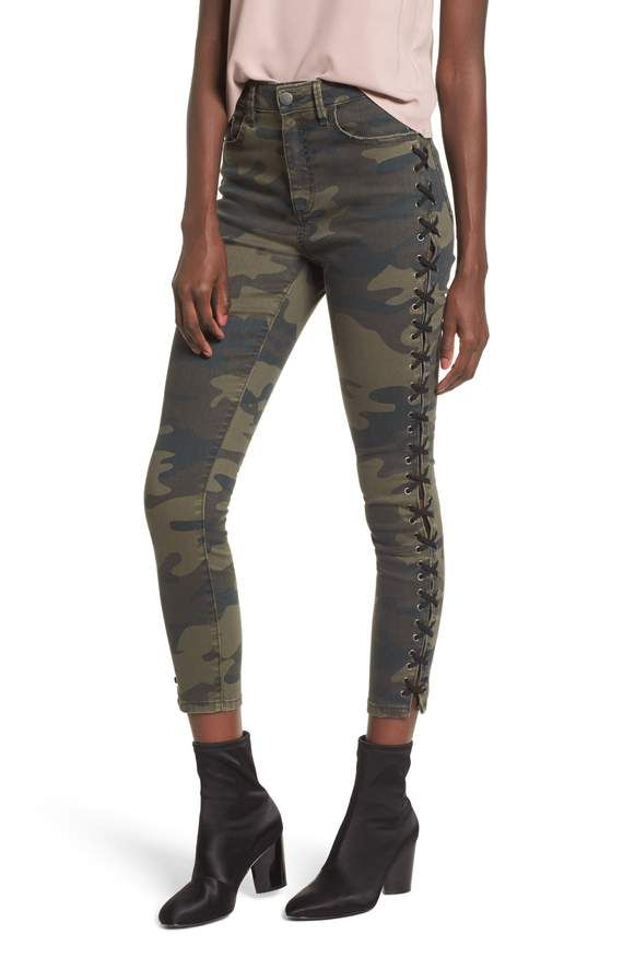 bc1dc428b06d0 Lace Up Camo Crop Skinny Jeans AFRM | clothes | Cropped skinny jeans ...
