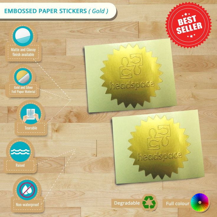 #Infographic: Featuring Custom Embossed Paper Stickers (Gold) #embossedstickers #paperstickers #emboss #stickers #stickerprinting #customstickers #Auckland