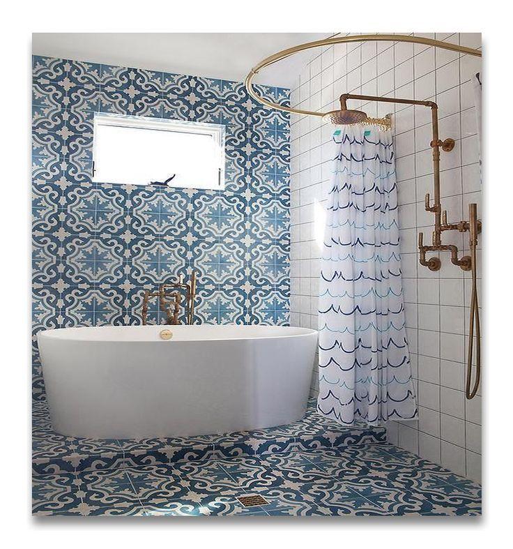 Gorgeous Moroccan Cement Tiles Bathroom Design Trends Coral Bathroom Decor Bathroom Interior Design