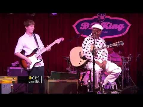Blues prodigy 14 year old guitarist, Quinn Sullivan jams with blues legend Buddy Guy - YouTube
