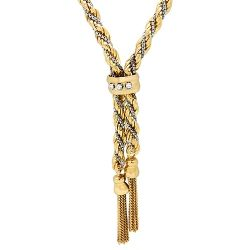 18ct Gold Rope Necklace with Diamonds