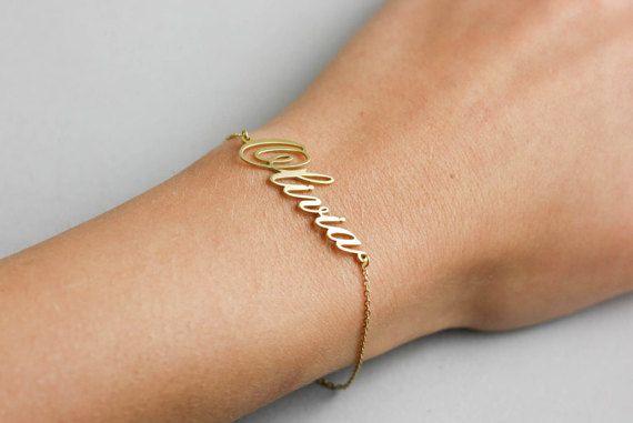 Dainty Name bracelet, bracelet name customized, personalized bracelet, name custom jewelry, custom name bracelet, gift for new mom, SB0181
