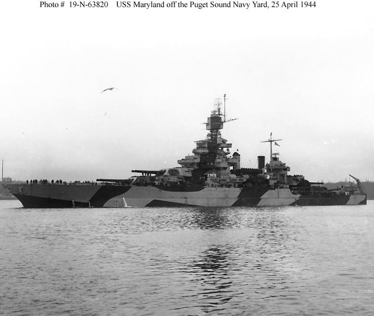 USS Maryland BB-46: Photo